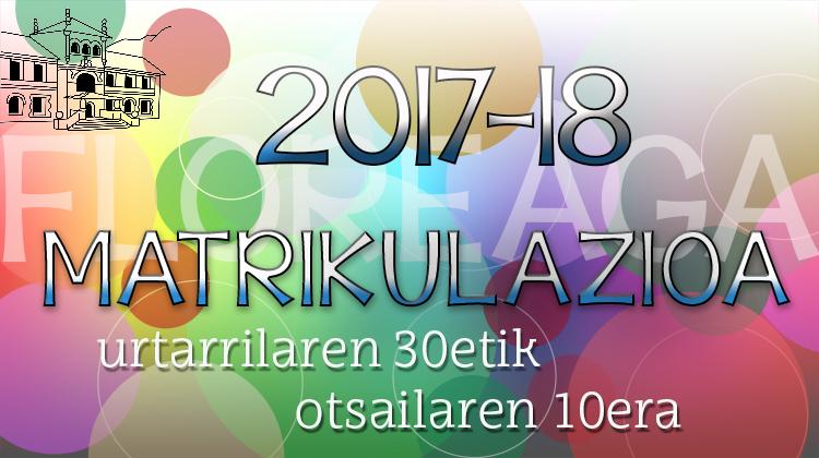 2017-18  MATRIKULAZIOA
